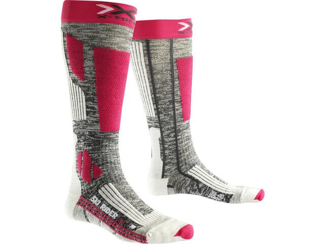 X-Bionic Ski Rider 2.0 Socks Women Grey Melange/Fuchsia